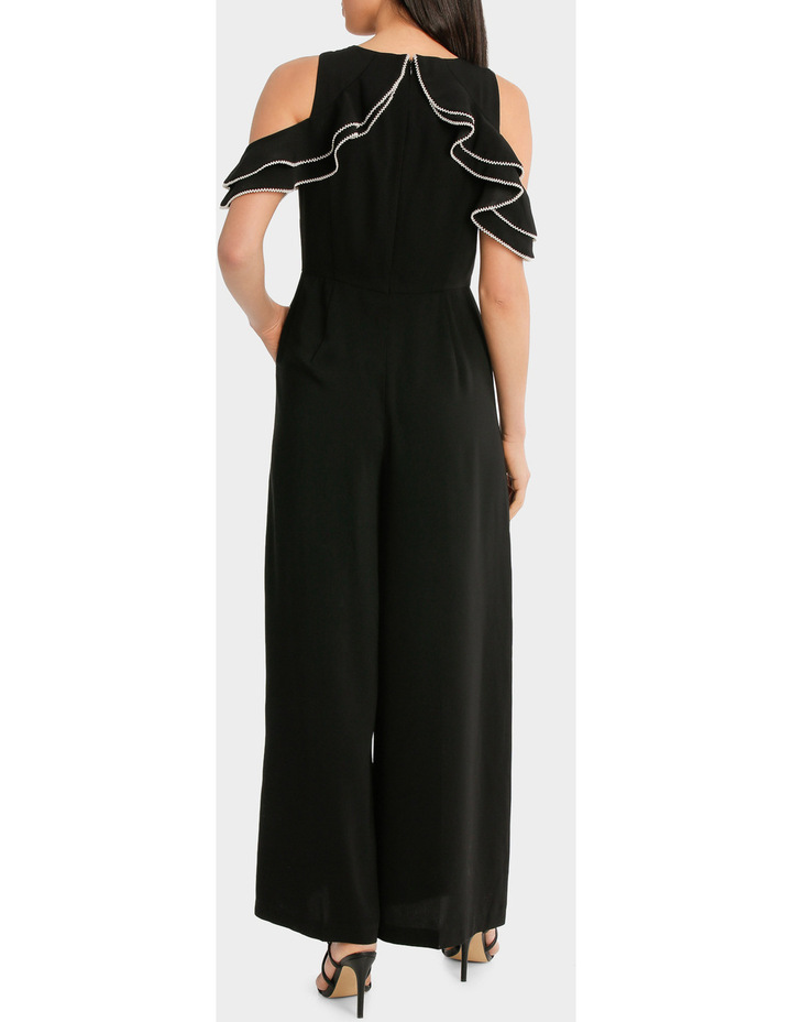 Cold Shoulder Pearl Trim Jumpsuit image 3
