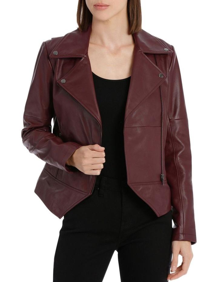 Bordeux Leather Jacket image 1