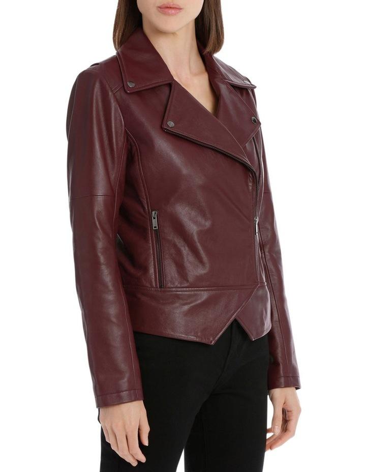 Bordeux Leather Jacket image 2