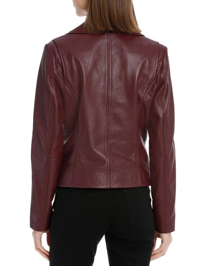 Bordeux Leather Jacket image 3