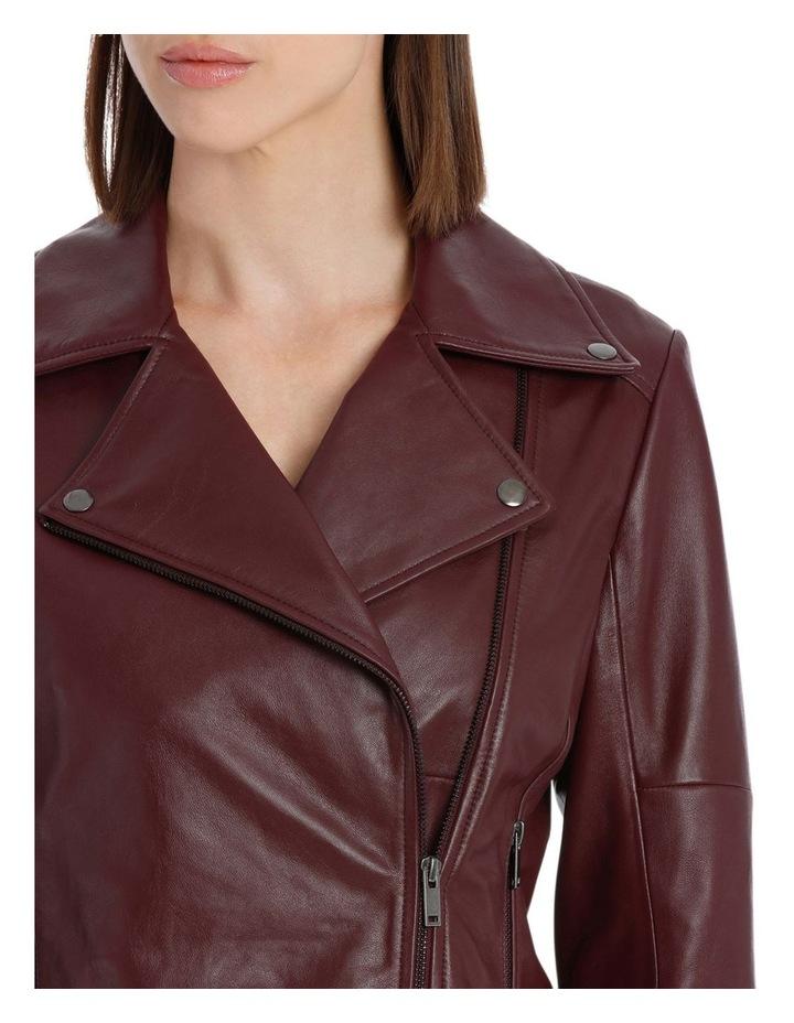 Bordeux Leather Jacket image 4