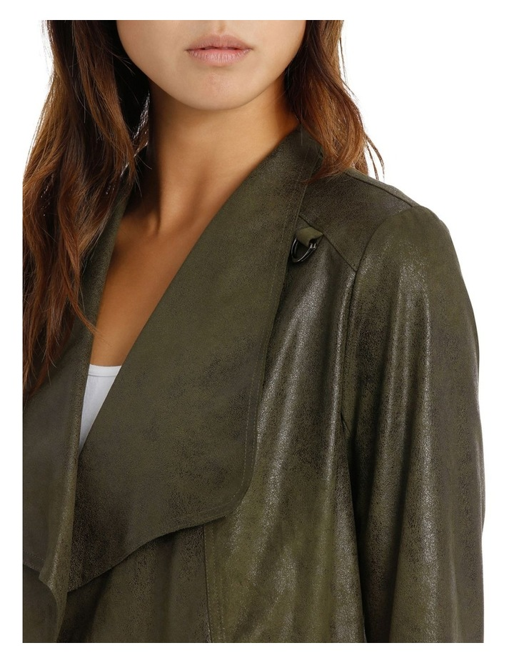 Khaki Cropped Waterfall Jacket image 4