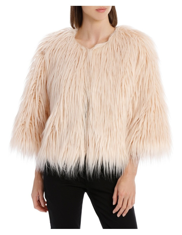 Soft Pink Cropped Fur Jacket image 1