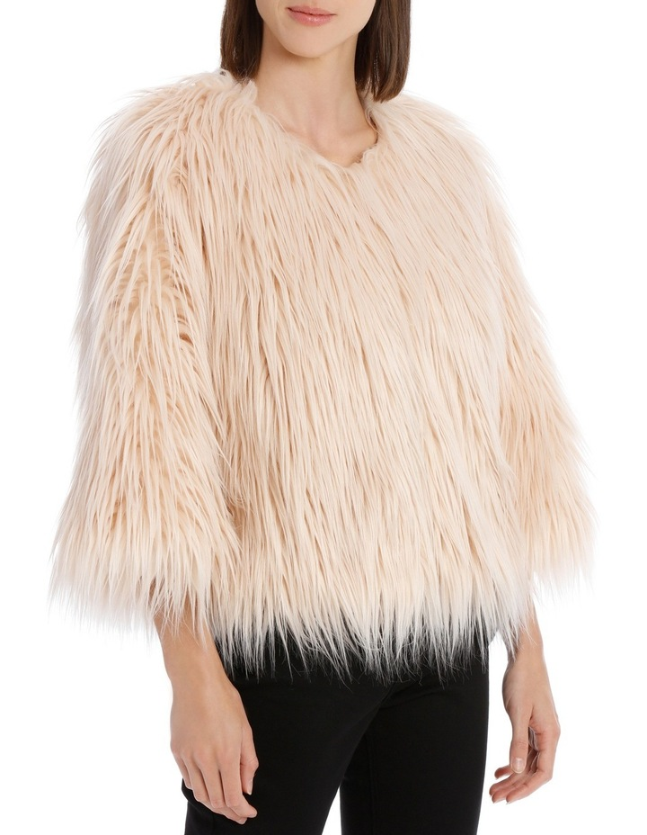 Soft Pink Cropped Fur Jacket image 2