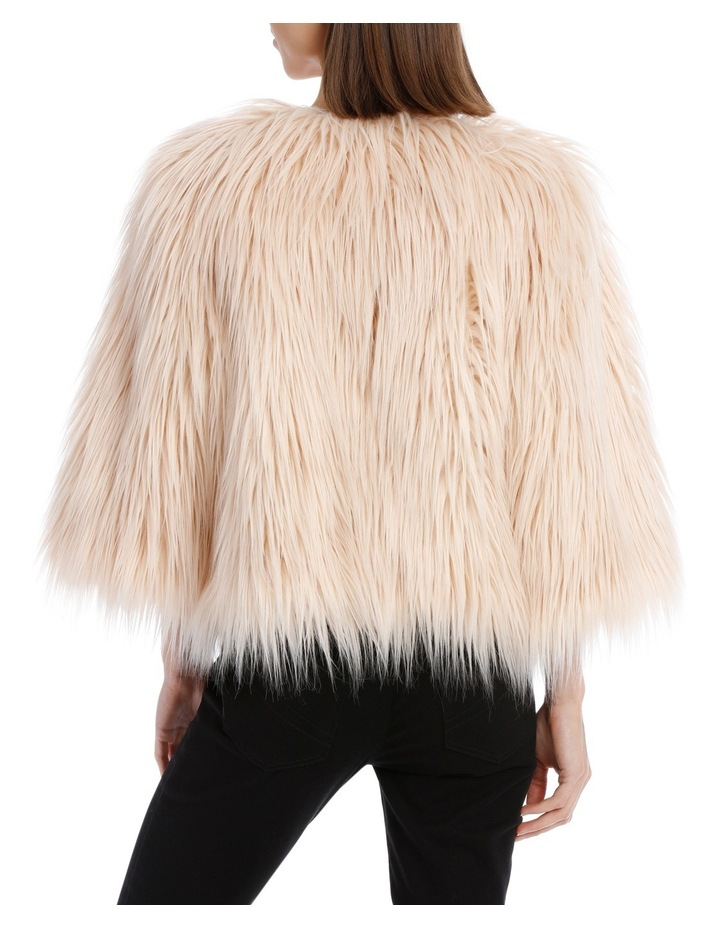Soft Pink Cropped Fur Jacket image 3