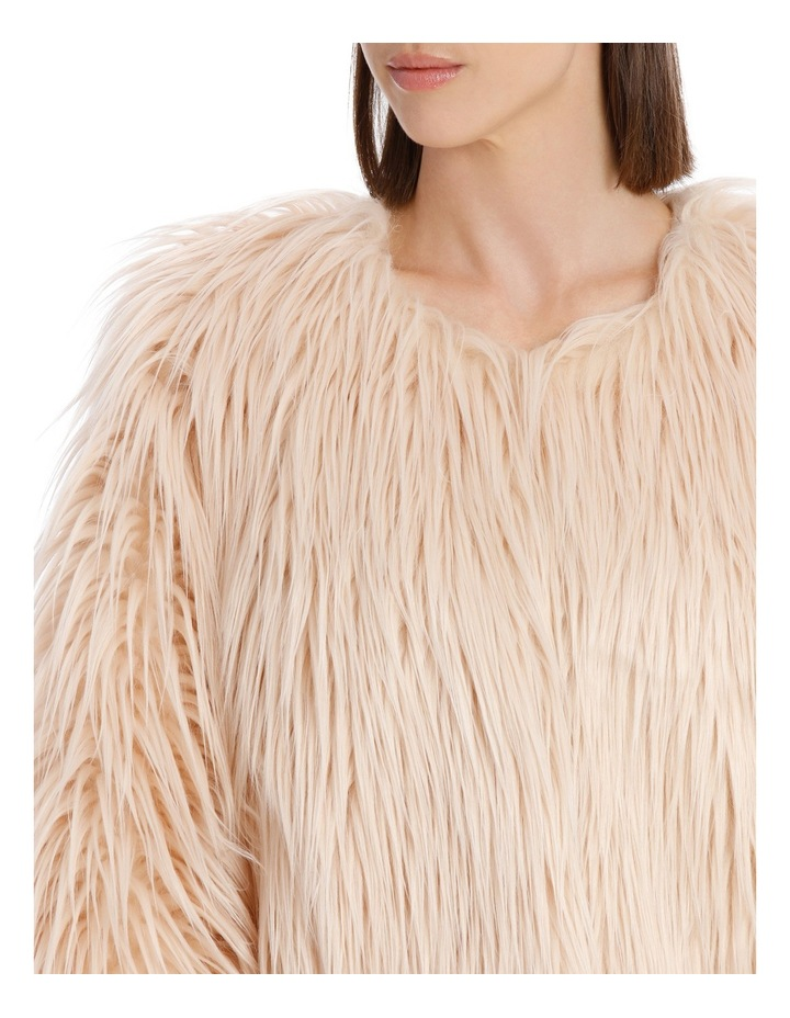 Soft Pink Cropped Fur Jacket image 4