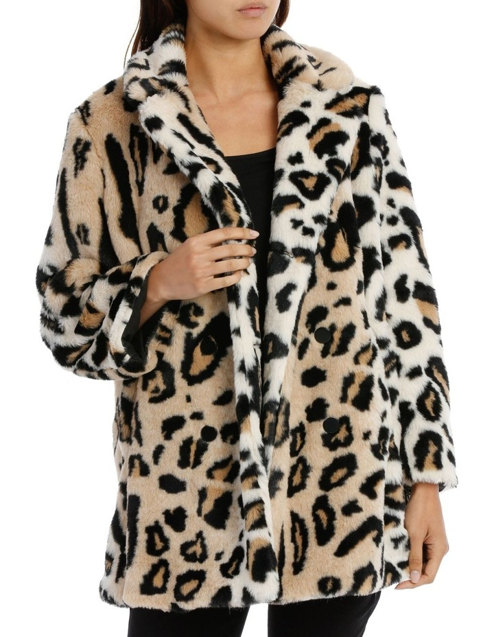 Double Breasted Animal Coat image 1