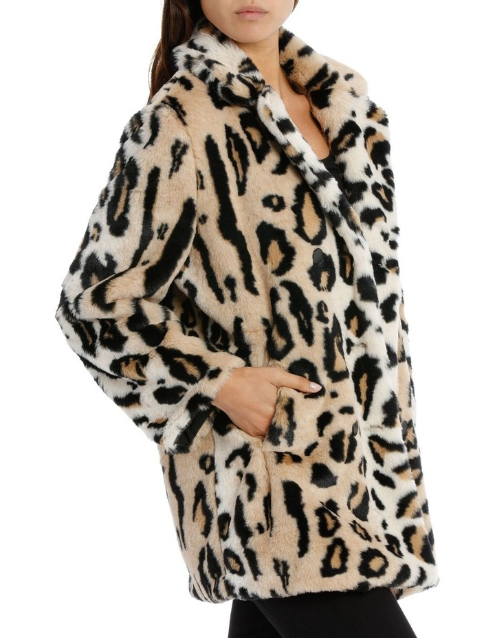 Double Breasted Animal Coat image 2