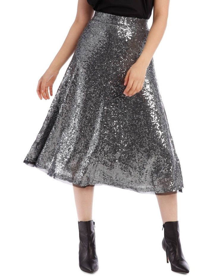 Silver Sequin Skirt image 1