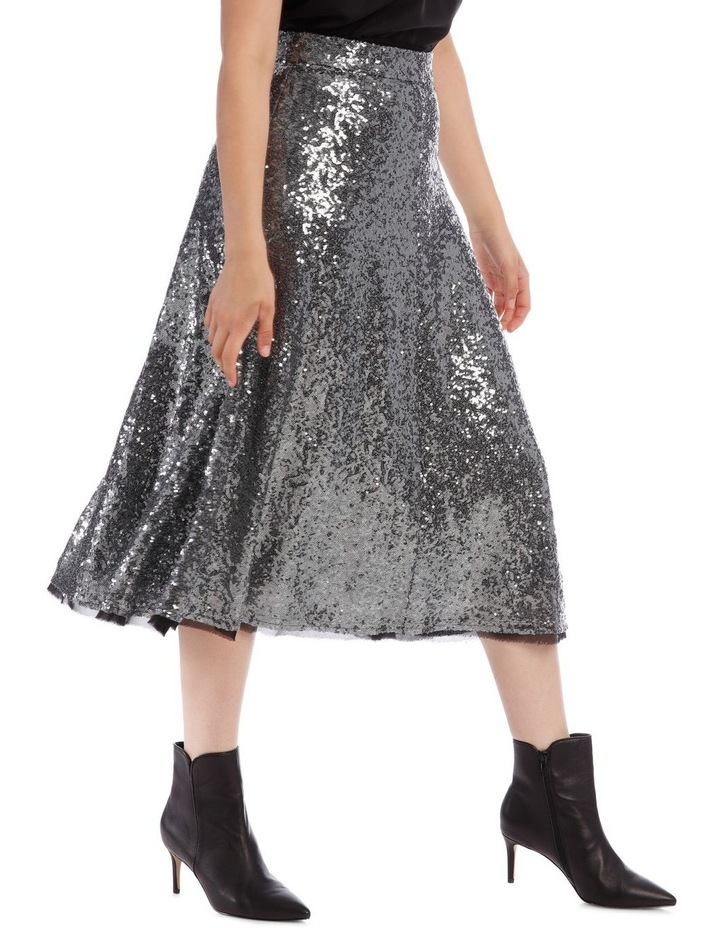 Silver Sequin Skirt image 2