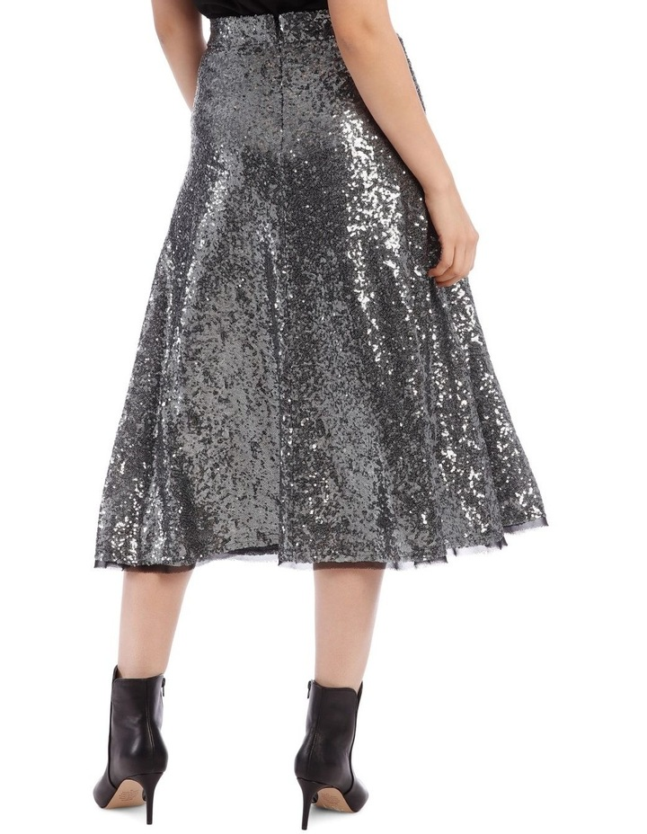 Silver Sequin Skirt image 3