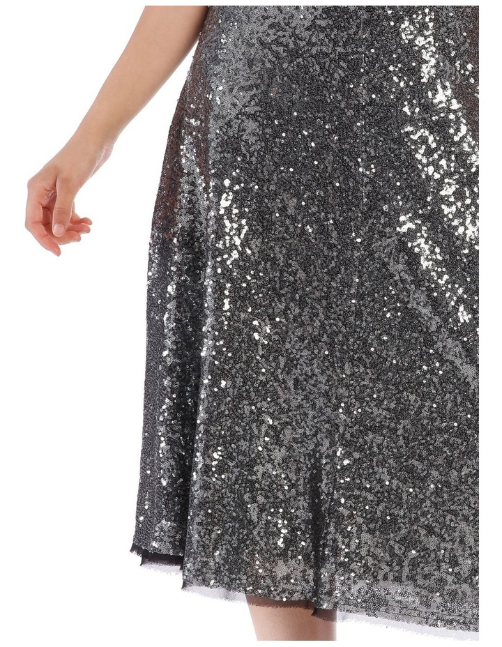 Silver Sequin Skirt image 4