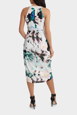 Wayne Cooper - Jagger Halter Zinnia Print Dress