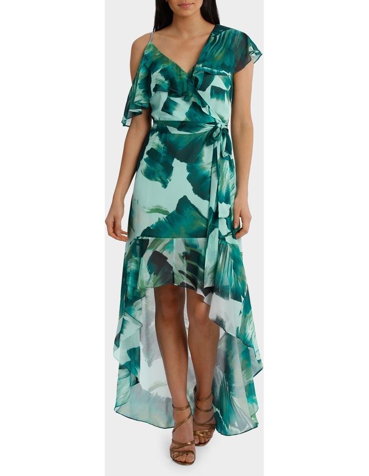 Asymetric Frill Maxi Dress image 1