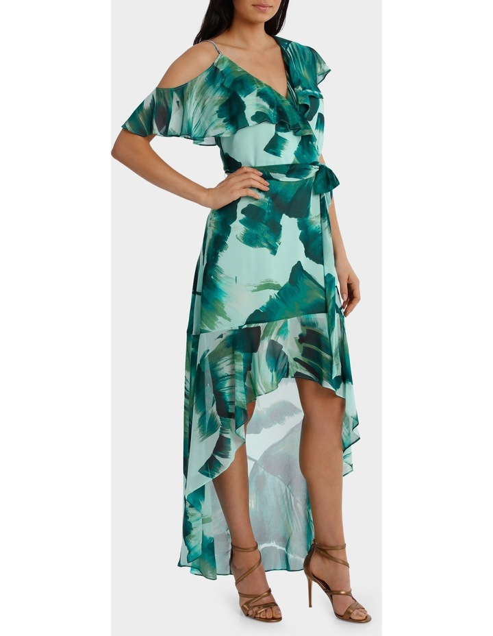 Asymetric Frill Maxi Dress image 2