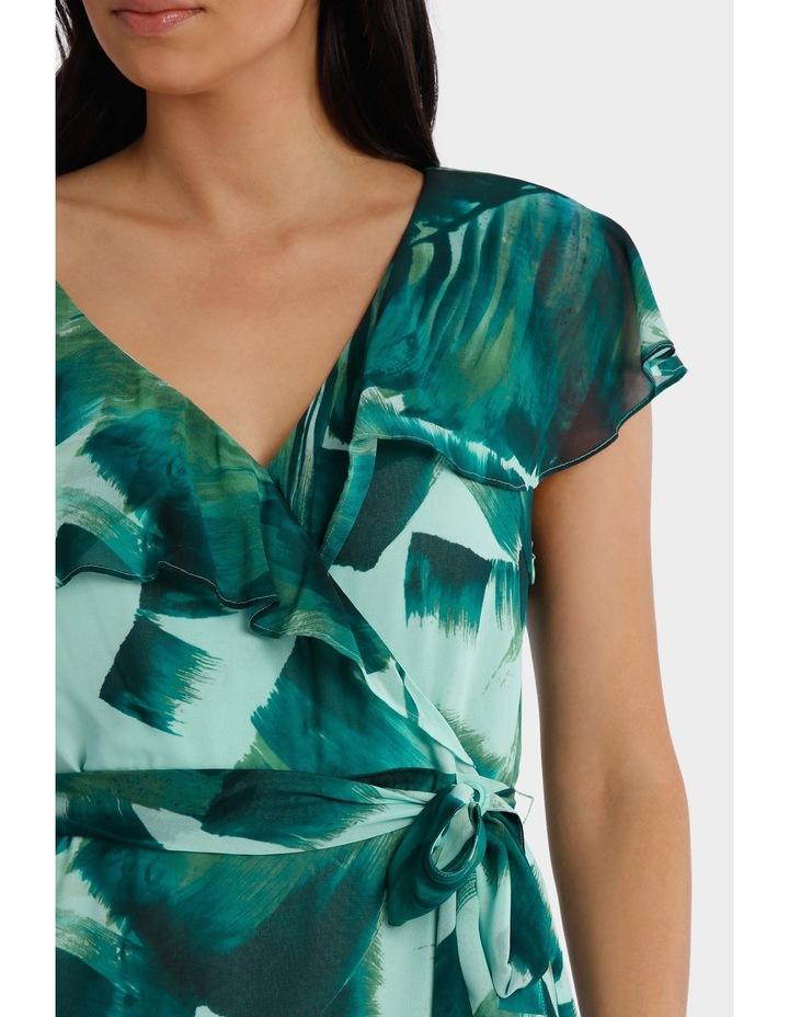 Asymetric Frill Maxi Dress image 4