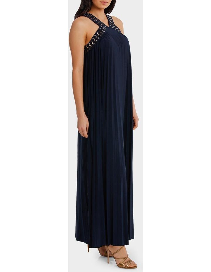 Eyelet Trim Pleat Maxi Dress image 2
