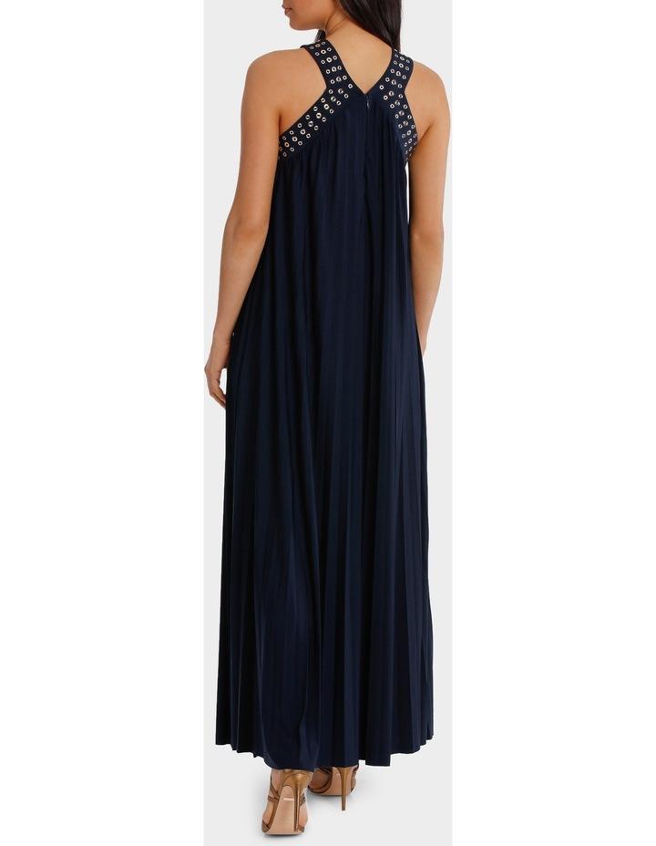 Eyelet Trim Pleat Maxi Dress image 3