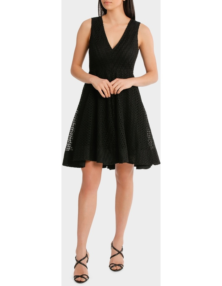 V Neck Fit And Flare High Low Lace Dress image 1