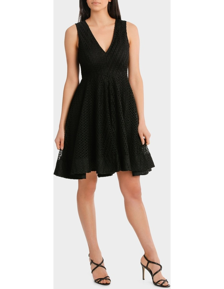 V Neck Fit And Flare High Low Lace Dress image 2