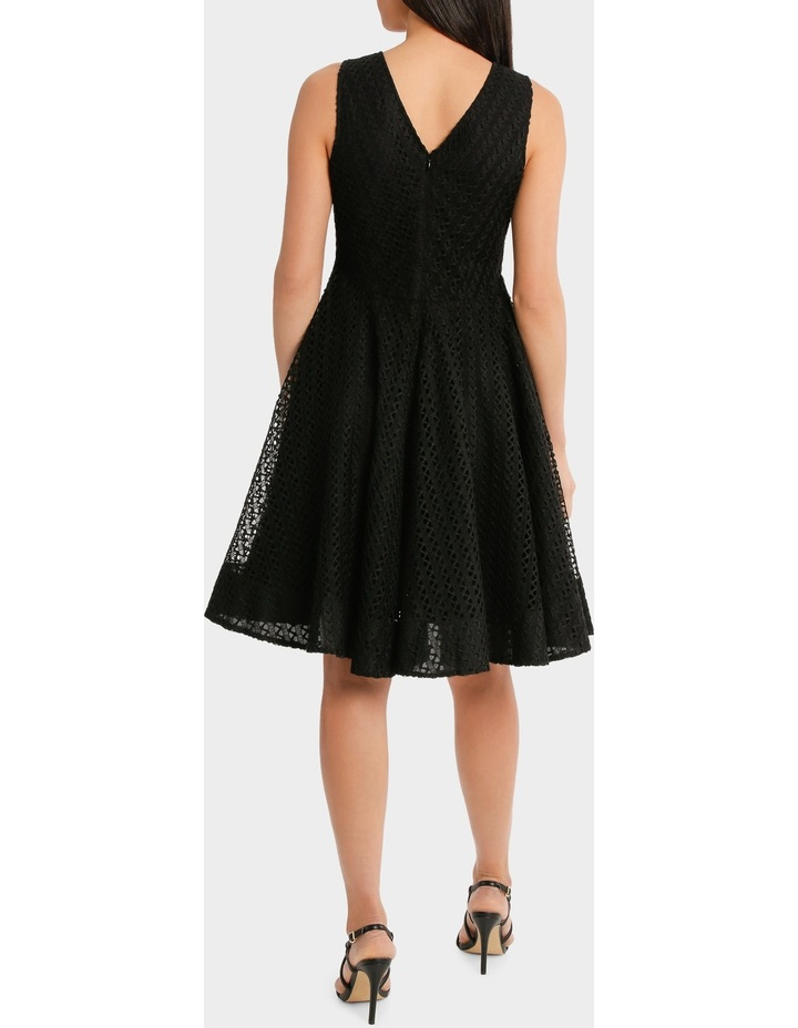 V Neck Fit And Flare High Low Lace Dress image 3
