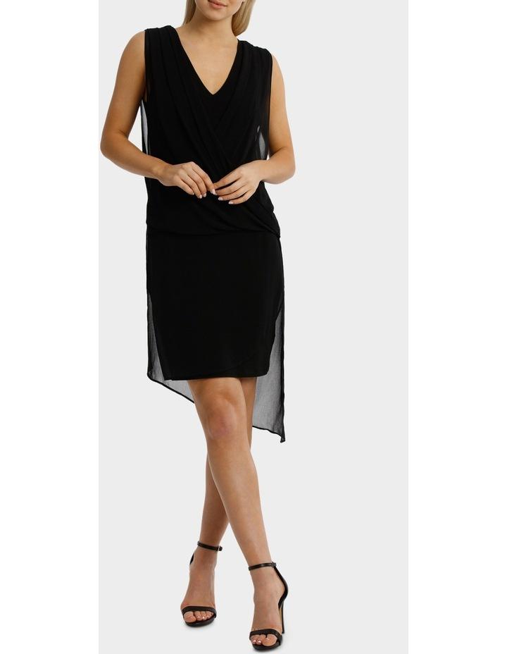 Black Drape Overlay Dress image 1