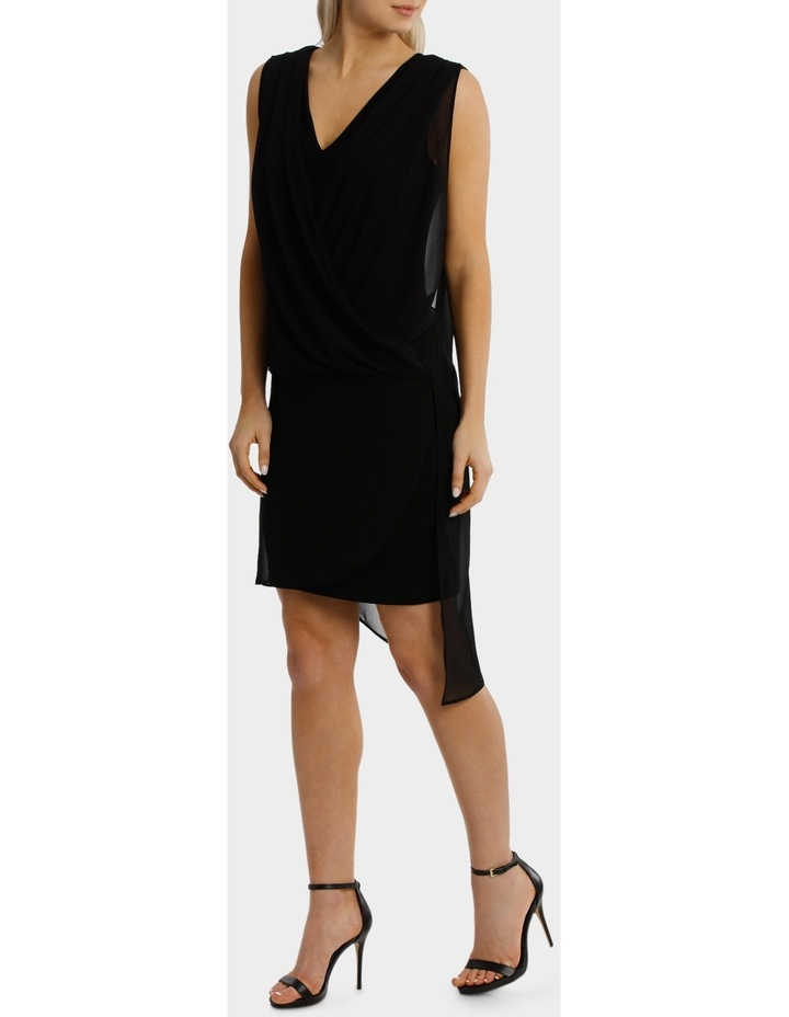 Black Drape Overlay Dress image 2