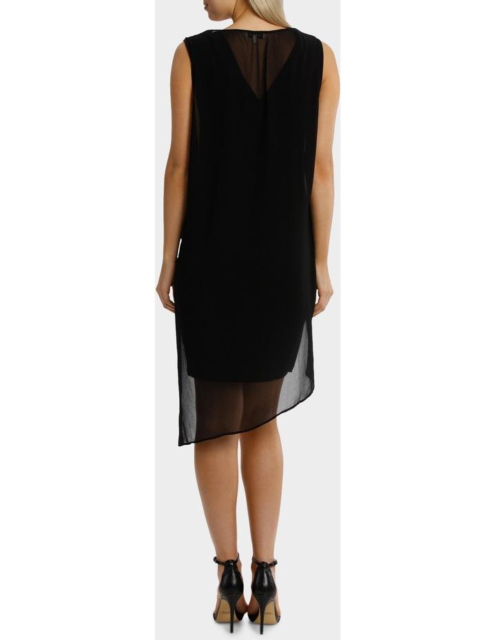 Black Drape Overlay Dress image 3
