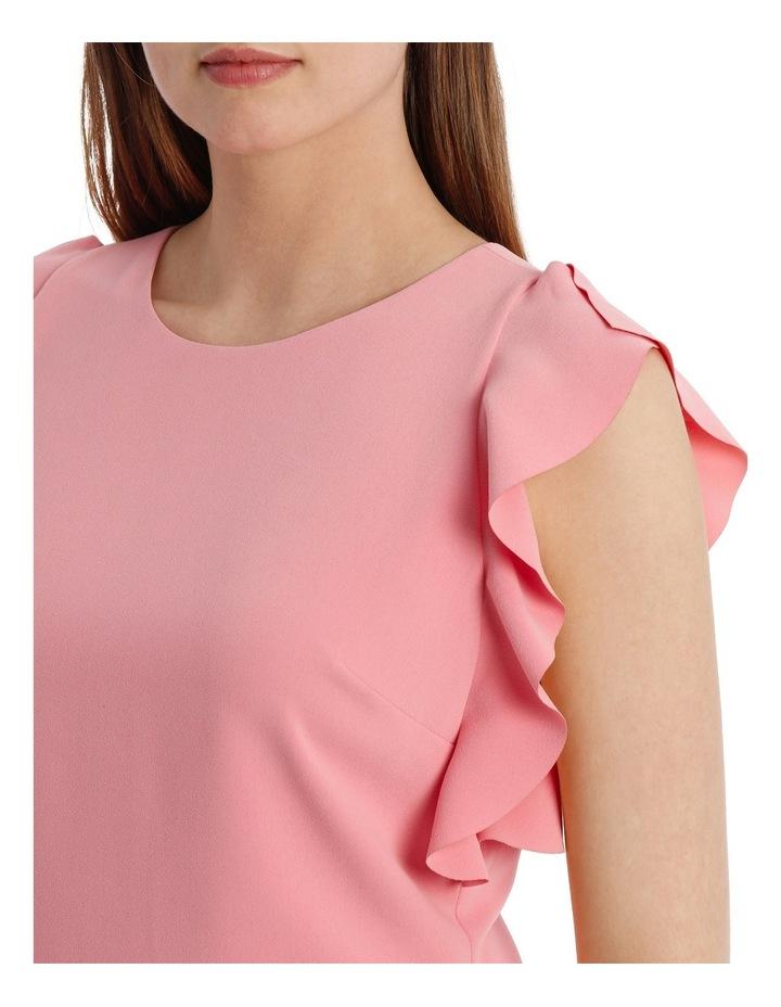 Ruffle Sleeve Shift Dress image 4