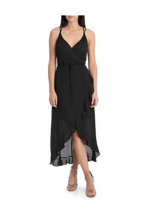 Wayne Cooper Frill Midi Solid Dress Myer Online