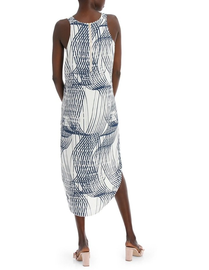 Abstract Linear Print Dress image 3
