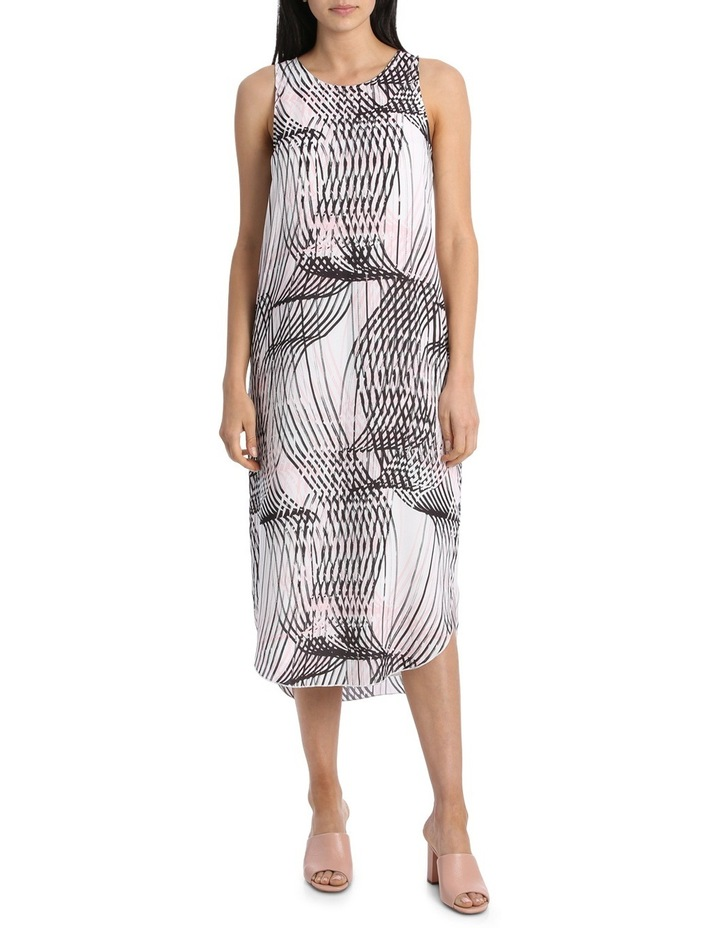 Abstract Linear Print Dress image 1