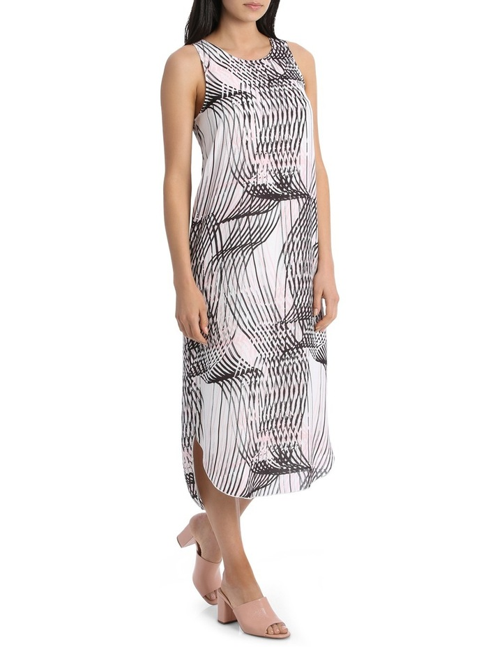 Abstract Linear Print Dress image 2