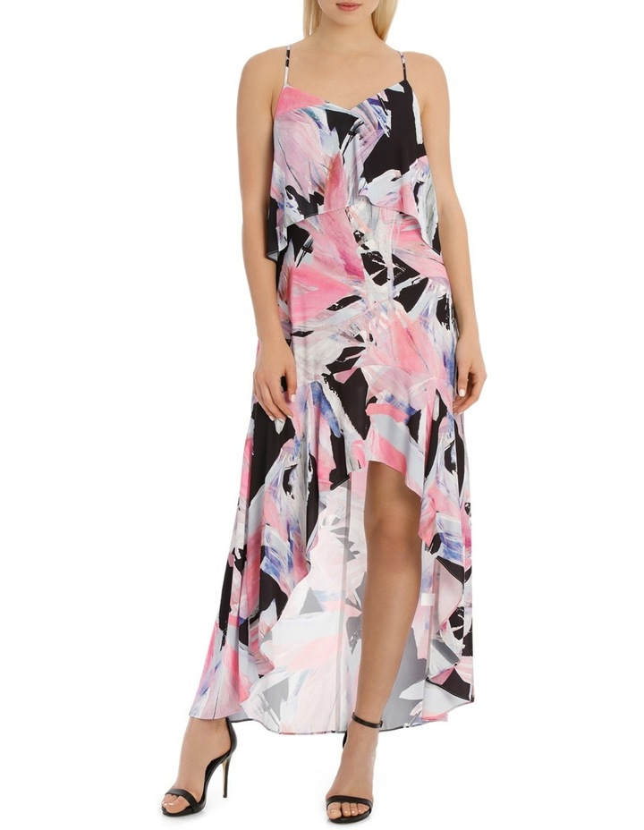 Rainbow Feather Frill Highlow Maxi Dress image 1