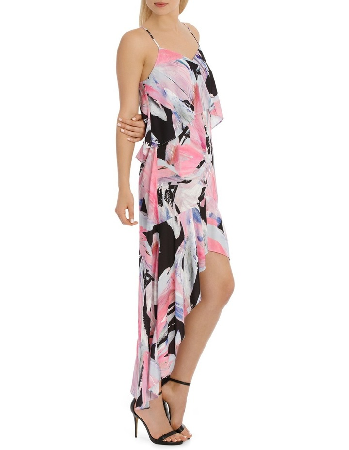 Rainbow Feather Frill Highlow Maxi Dress image 2