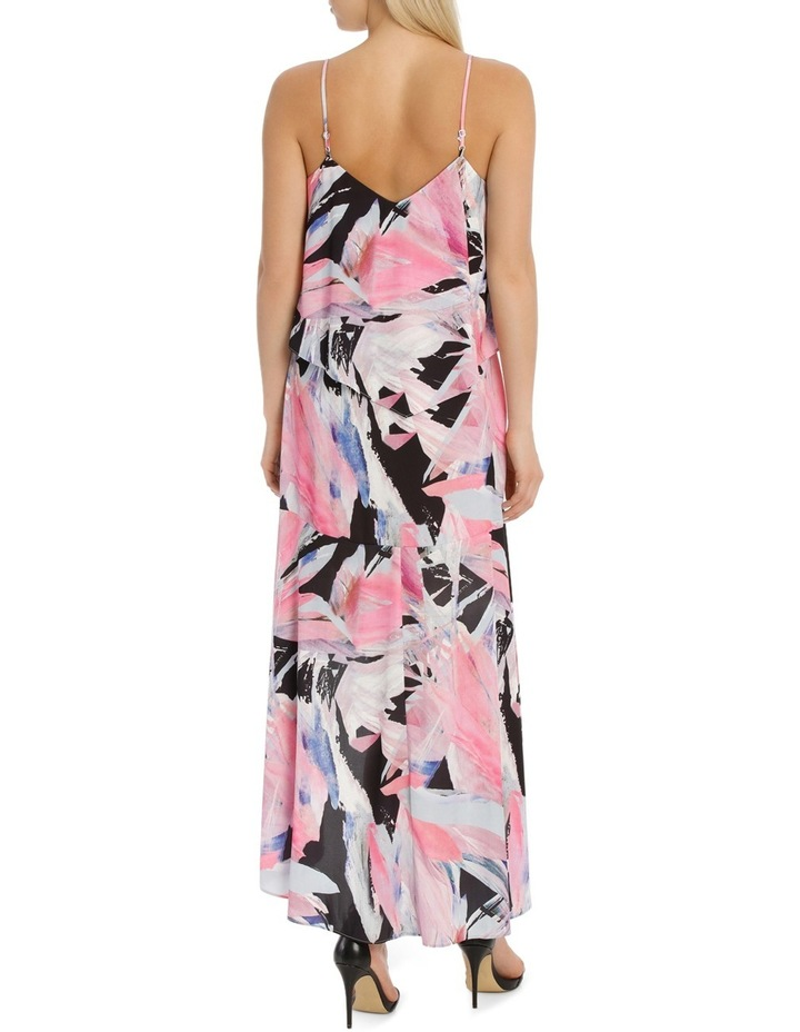 Rainbow Feather Frill Highlow Maxi Dress image 3
