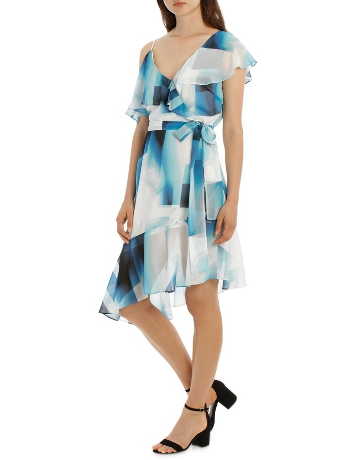 Asymmetric Blue Ink Frill Dress image 2