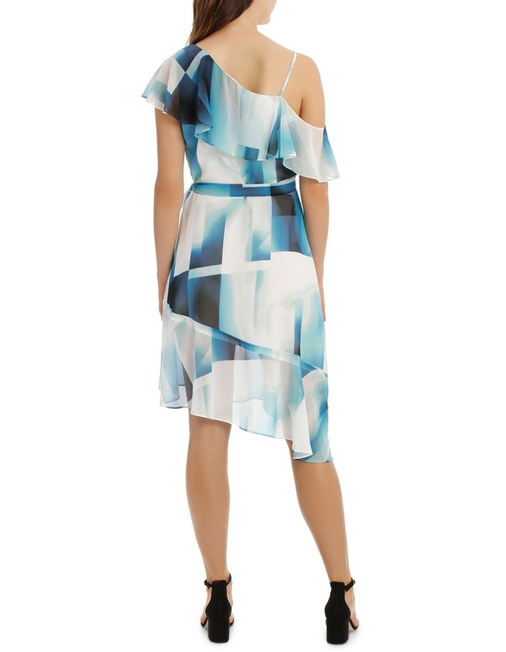 Asymmetric Blue Ink Frill Dress image 3