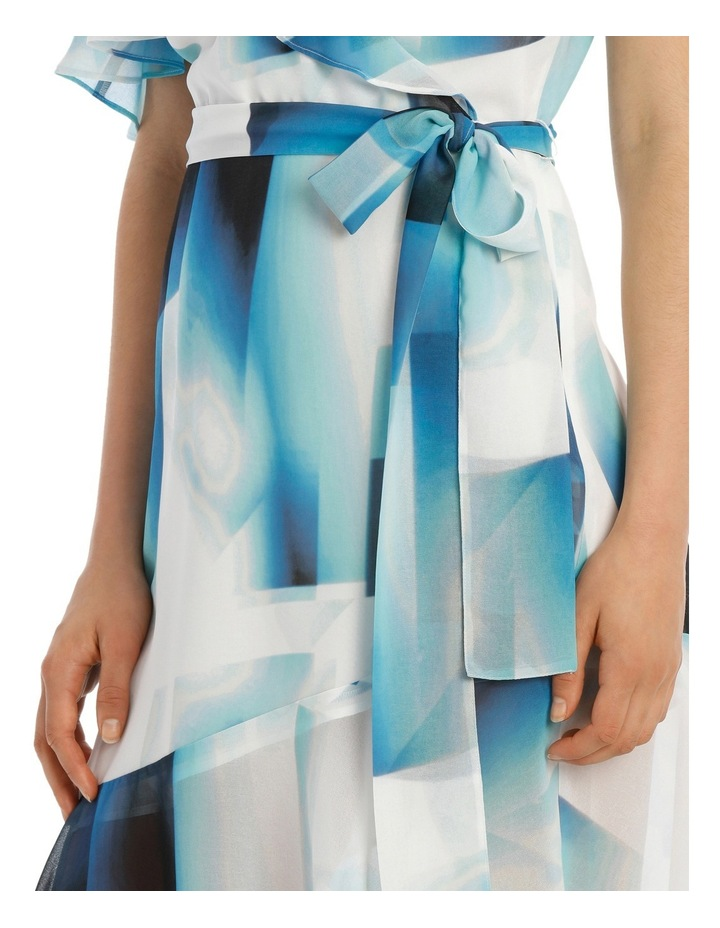 Asymmetric Blue Ink Frill Dress image 4