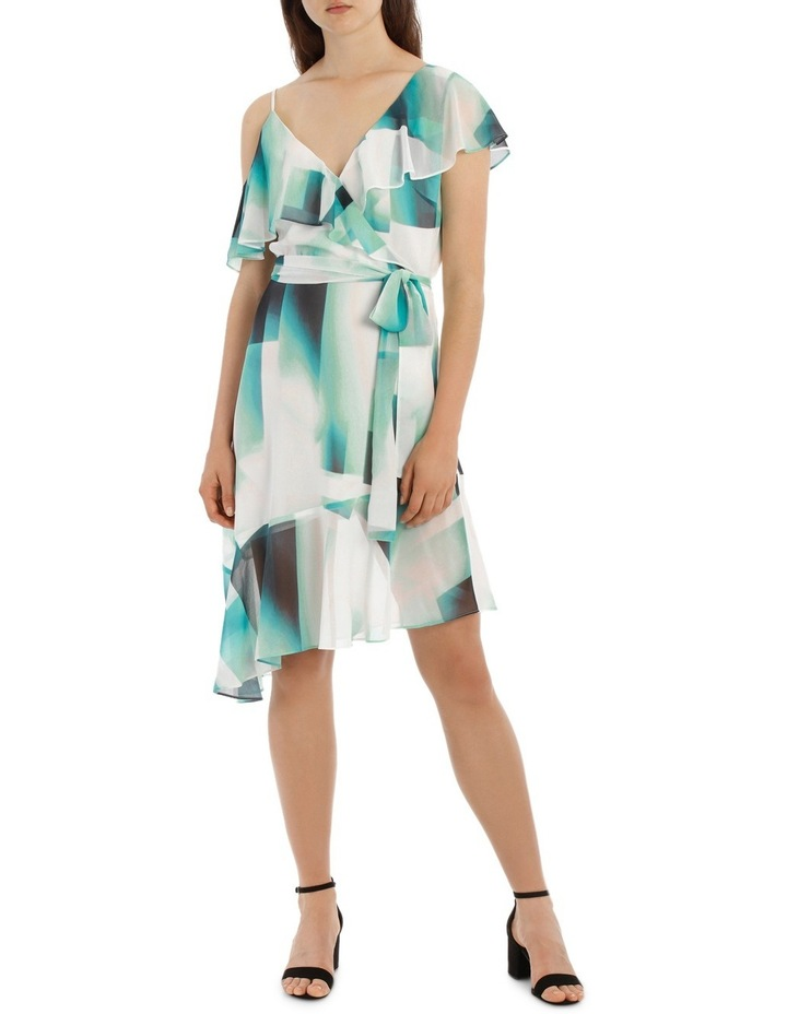 Asymmetric Mint Frill Dress image 1
