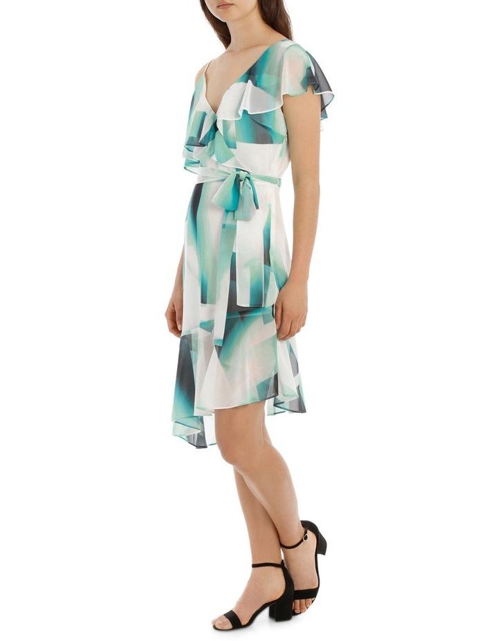 Asymmetric Mint Frill Dress image 2