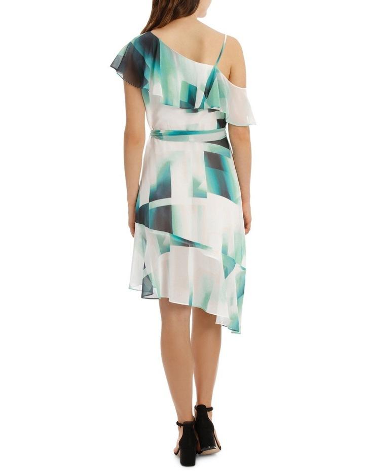 Asymmetric Mint Frill Dress image 3