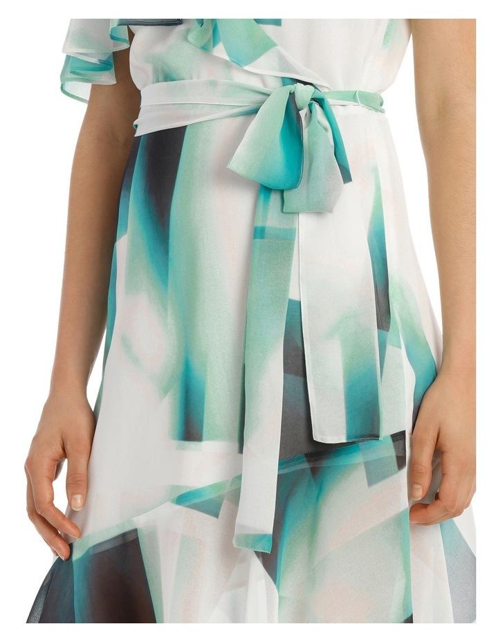 Asymmetric Mint Frill Dress image 4