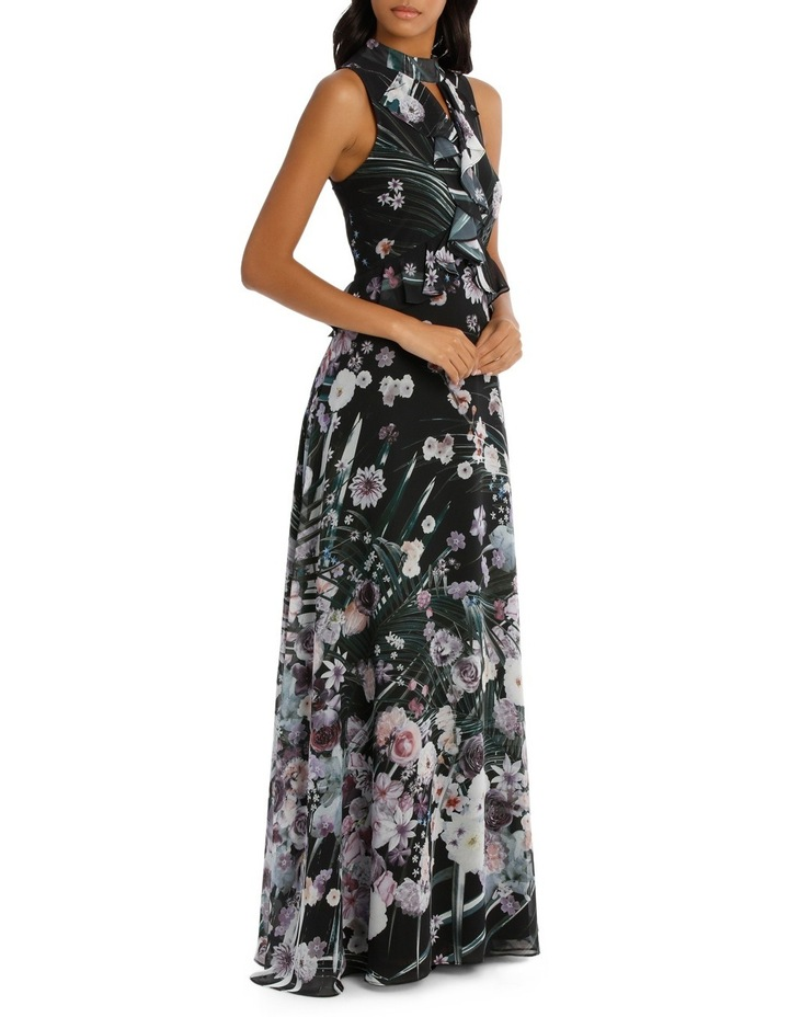 Love Affair Print Ruffle Halter Maxi Dress image 2