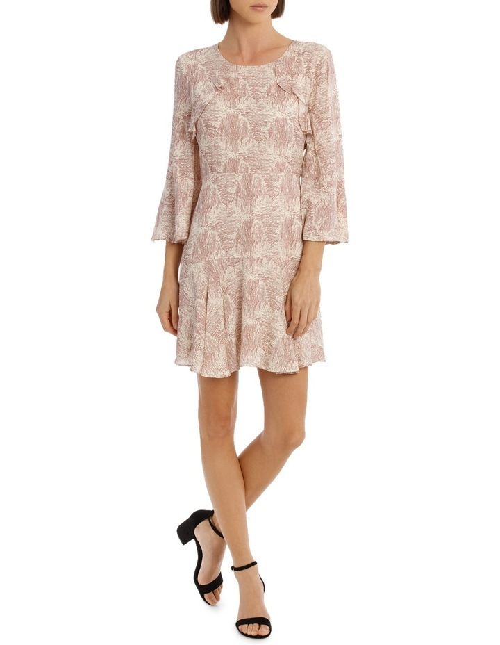 Amber Ripple Frill Sleeve Dress image 1