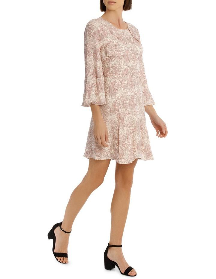 Amber Ripple Frill Sleeve Dress image 2