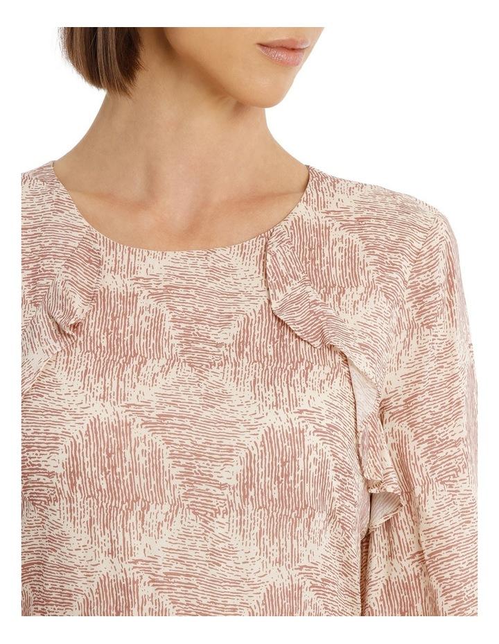 Amber Ripple Frill Sleeve Dress image 4