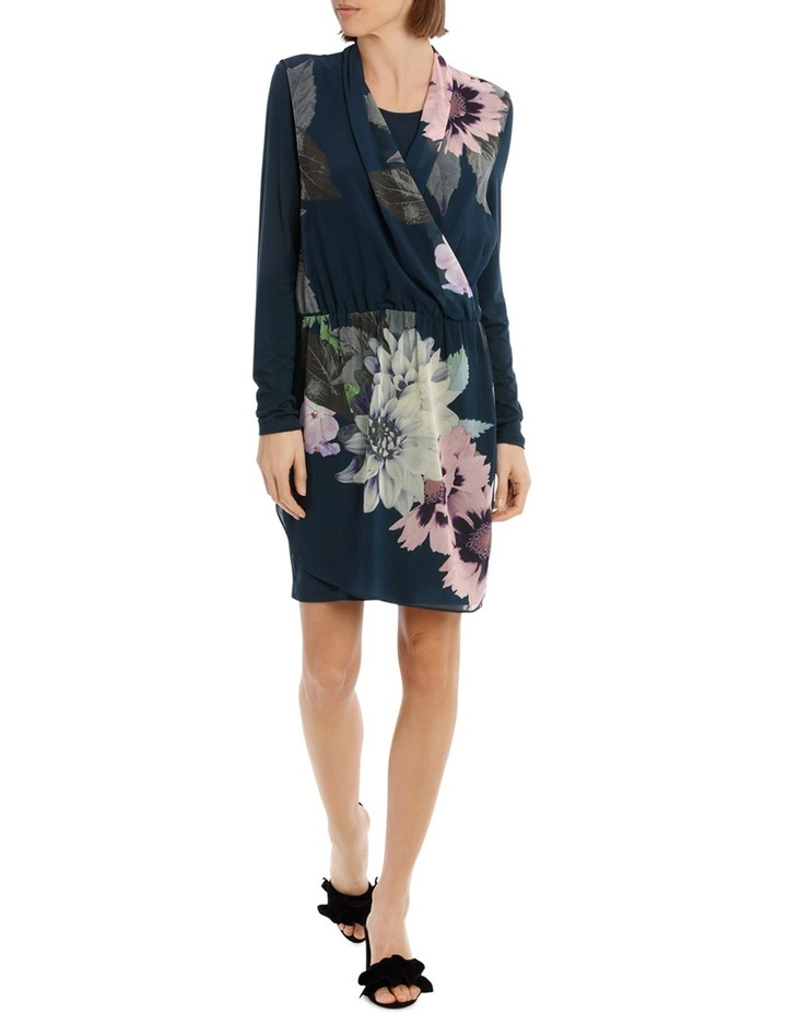 Valintina Ombre Long Sleeve over Lay Dress image 1