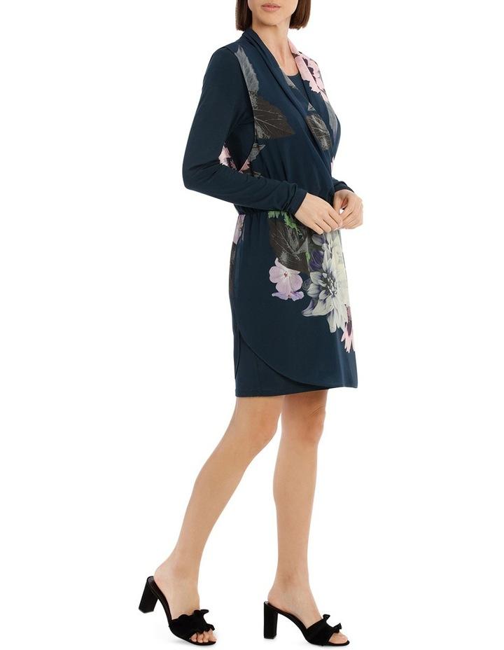 Valintina Ombre Long Sleeve over Lay Dress image 2