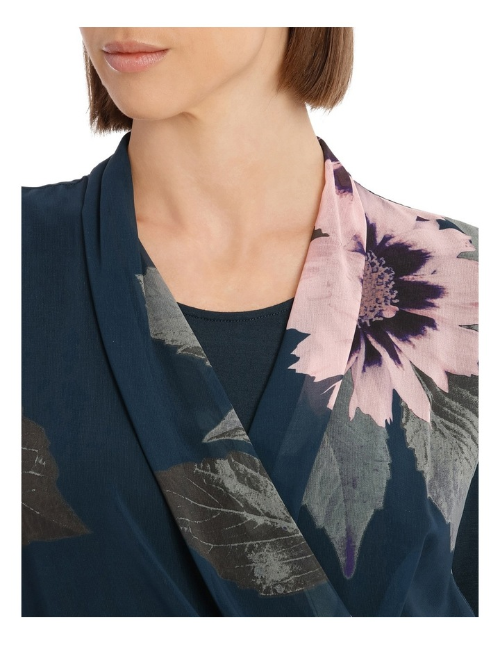 Valintina Ombre Long Sleeve over Lay Dress image 4